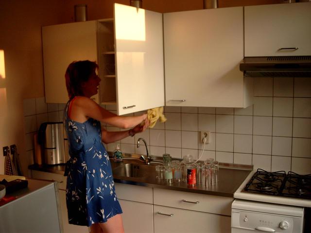 Keuken    Witte Keukenkastjes Schoonmaken   Inspirerende foto u0026#39;s en idee u00ebn van het interieur en